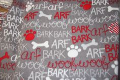 Woof Arf Fleece Fabric Dog blanket Fleece Fabric Store low price Anti Pill fleece fabric  by the yard free shipping available - SHIPS FAST by FabricPremier on Etsy
