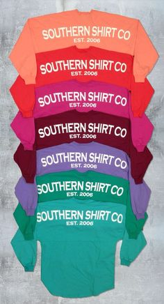 Southern Shirt Company || Crewneck Jersey Pullover $52 (Can I have one in every color please!)