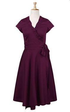 Cotton wrap dress, $55 at eshakti.  http://www.eshakti.com/clothpdpage.asp?catalog=Clothes&cate;=solid%20dresses&productid;=CL0017102#