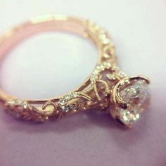 I think I'll just repin my own pin because of how BEAUTIFUL this vintage gold ring is...