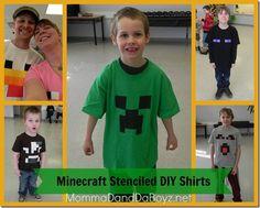 Minecraft Stenciled Shirt