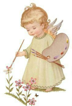 ❤️ Little Angel Vintage Christmas Cards, Vintage Cards, Christmas Angels, Christmas Art, Angel Pictures, Guardian Angels, Angel Art, Cute Art, Decoupage