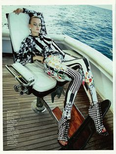 Down by the sea in stripes! #DesignerSpotlight #Balmain