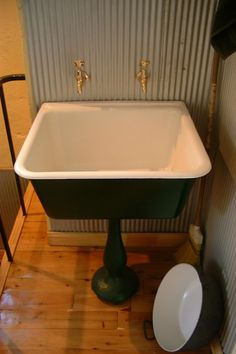 cast iron pedestal laundry tub!
