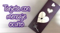 Tarjeta para San Valentin con mensaje oculto, Valentine's Day card with ...