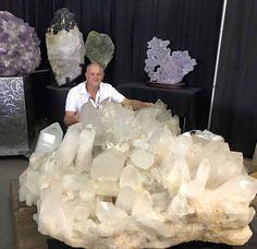 Coleman's Quartz Mine near Jessieville, Arkansas, the place for milky quartz crystals
