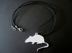 Rockin' White Rat Pendant 3D Print by Untimed on Etsy, $8.00