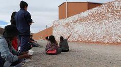 En san Antonio de los Cobres pintaron un mural,contra el suicidio,: La intervención artística se realizó en el puente Huaytiquina con la…