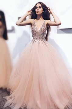 Cheap Prom Dresses #CheapPromDresses, Prom Dresses A-Line #PromDressesALine, Long Prom Dresses #LongPromDresses, Prom Dresses Pink #PromDressesPink