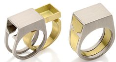 Another image of how I want my engagement ring and wedding band to work - minus the cubby :)