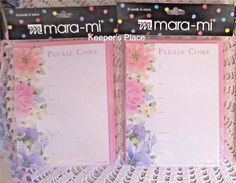 Party Invitations PLEASE COME 16 Cards & Envelopes Pink Floral By Mara-Mi New #MaraMi #AnyOccasion