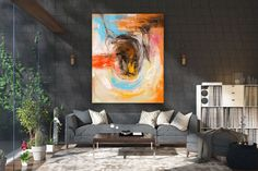 Items similar to Large Abstract Canvas Art,Extra Large Abstract Canvas Art,painting on canvas,modern abstract,extra large wall art on Etsy Oversized Canvas Art, Large Canvas Art, Abstract Canvas Art, Large Painting, Canvas Wall Art, Textured Painting, Gold Canvas, Extra Large Wall Art, Large Art