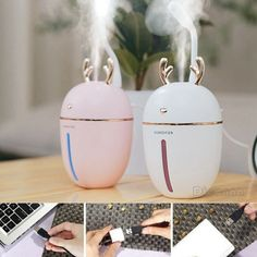 Intelligent LED Humidifier Essential Oil Diffuser Aroma Aromatherapy Purifier #Affilink #essentialoils #essentialoilblends #diffusers #essentialoildiffuser