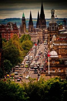 Princes Street, Edinburgh, Scotland #thisisedinburgh