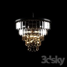 Chandelier pendant in American style Amber