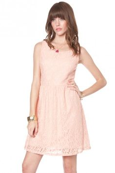 Lacey flare dress