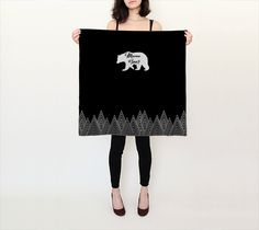 Black Mama Bear Square Scarf found @ https://www.lonewolfboutique.com