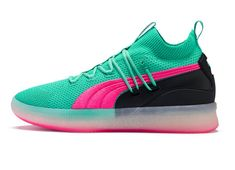 PUMA Baskets Clyde Court Disrupt Biscay Green pas cher prix Baskets Homme  PUMA 120 2185bfe1f