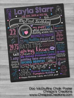 Doc McStuffins Birthday Chalk Poster - Chrispix's Creations