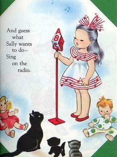 Retro children's book illustrations