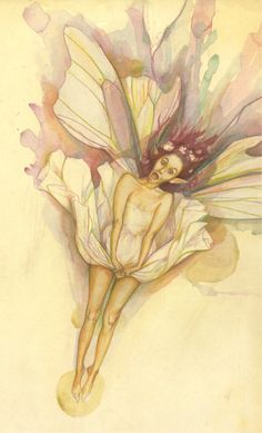 """Pressed Faerie"" by Brian Froud from Lady Cottington's Pressed Fairies"