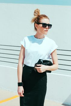 top knot + plain white tee || loveblair.com