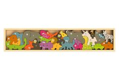 Rubberwood Animal Parade A-Z Puzzle $32