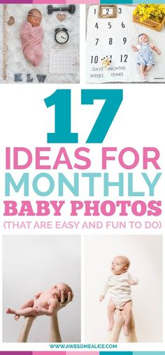 Here are fun & creative photography ideas for documenting your baby's first year of life. And they'll definitely make you think, Oh, how it went by too fast