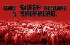 Weak minds and the brainwashed wear the wool.