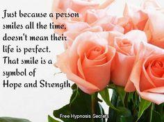 Symbol of hope Hope Symbol, Inspirational Quotes, Symbols, Rose, Flowers, Islam, English, Life Coach Quotes, Pink