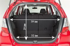 I Just Measured My Honda Fit And Here Are The Interior Dimensions In