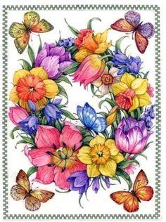 butterfly wreath Lorraine Ryan