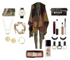 """""""#style #cold #glam #fashion"""" by sa14muna on Polyvore featuring Gianvito Rossi, Topshop, Tory Burch, Michael Kors, Yves Saint Laurent, Anastasia Beverly Hills, Balmain, Hourglass Cosmetics, MAKE UP FOR EVER and women's clothing"""