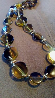 One of a Kind two tone acrylic geometric necklace and earring set #1419 #1663 by LoisWagnerOriginals on Etsy