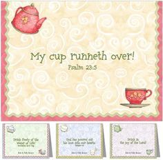 Make these for my tea party.There's something about praising god that makes the blessings flow more abundantly. My cup runneth over. I have been gifted with so much love and so much quality time it's remarkable! God works that way. Filled with Joy! Girls Tea Party, Tea Party Theme, Party Themes, Ideas Party, Tea Party Activities, Activities For Girls, Group Activities, Birthday Quotes, Birthday Cards