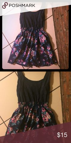 Blue romper Navy blue with a pink and white flower design! Cute for the summer Other