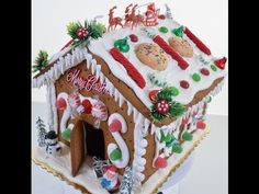 How to make Gingerbread House - Creating Gingerbread with Royal Icing - YouTube
