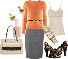 """Orange and Leopard"" by tajarl on Polyvore"