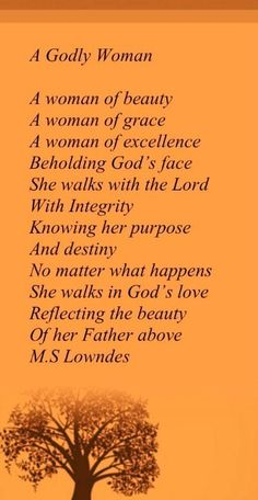 God's Woman - set apart from the world - a noble bride - worthy of her Groom - her Beloved Master and King, JESUS!