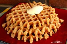 blender waffles- just oat flour and banana!