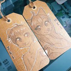Little Kemono Kraft paper  tags for @mei.icewoof and her partner  #furry #furries #furryart #furryartist #furryartwork #traditional #traditionalart #digitalart #digital #multimedia #artist #fursona #anthro #prismacolor #pencils #markers #prismacolormarkers #copic #copicmarkers #art #drawing #doodle #commission #kemono