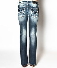 Another great find on #zulily! Vigoss Medium Blue Wash Chelsea Feather Bootcut Jeans by Vigoss #zulilyfinds