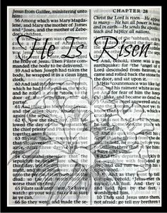 Easter - He Is Risen Free Printable Easter Printables, Free Printables, Easter Scriptures, Bible Scriptures, Easter Wallpaper, Hymen, Printable Scrapbook Paper, Easter Story, Country Christmas Decorations