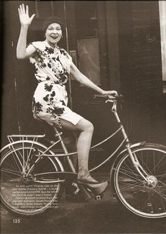 """edithshead: """"Vivienne Westwood by Alasdair McLellan for The Gentlewoman, 2014 Today, I leave my secure city job for a rural adventure. As I said to my husband on our wedding day, """"HOLY SHIT. Vivienne Westwood, Cycle Chic, Punk, Dress And Heels, British Style, Designer Wear, Business Women, My Style, Lady"""