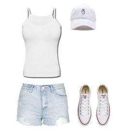 """""""Untitled #3"""" by amina-33 ❤ liked on Polyvore featuring Topshop and Converse"""