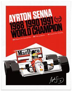 Ayrton poster by Sean Kane Design