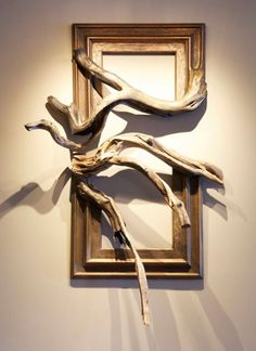 Wood Frame Cain & Abel - Wood frames with grafted manzanita branches Driftwood Projects, Driftwood Art, Driftwood Furniture, Wood Sculpture, Sculptures, Manzanita Branches, Wood Wall Art, Wooden Art, Wood Carving