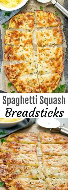 Cheesy breadsticks made with spaghetti squash for a delicious, low carb alternative to regular breadsticks. If you enjoyed my zucchini breadsticks and cauliflower breadsticks, then I think you'll also love these spaghetti squash breadsticks. Low Carb Recipes, Vegetarian Recipes, Cooking Recipes, Healthy Recipes, Primal Recipes, Low Fat Diets, Low Carb Diet, Low Fat Meals, Low Fat Low Carb
