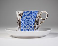 Royal Worcester Aesthetic Movement Cup & Saucer, Circa 1890. English Teacup.