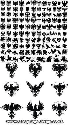 heraldic logo ideas www.cheap-logo-design.co.uk #heraldry #heraldiclogo #eaglelogo